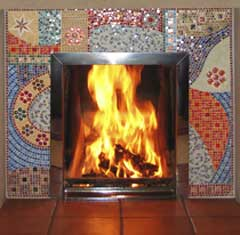 Fireplace mosaic by Jo Letchford