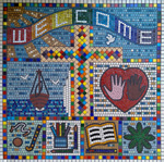 Kingsdown and Ringwould Church of England Primary School mosaic by Jo Letchford Mosaic Artist, Folkestone, Kent